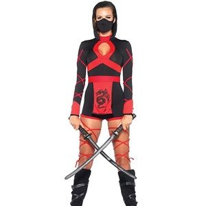 Women's 3 Piece Dragon Ninja Costume